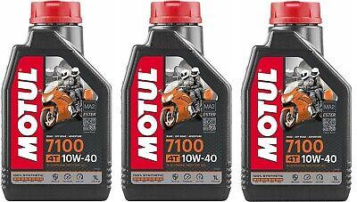 OLIO MOTORE MOTUL 7100 10W40 MA2 3 LITRI 100% Sintetico MOTO SCOOTER 4 TEMPI