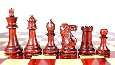 Bud Rose Wood Monarch Staunton Wooden Chess Set Pieces King size 4