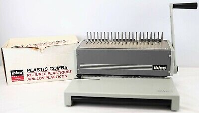 Ibico Ibimatic Heavy Duty Metal Manual Comb Binding Punch Machine W Extra Combs