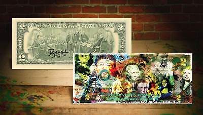 COLLAGE OBEY THE FUN Rency / Banksy Pop Art $2 Bill U.S. - Signed by Artist #/70
