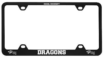 Drexel University  Metal License Plate Frame Black