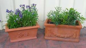 2~French~Country~Cottage~Terracotta~Garden~Planter~Pot~Boxes Cessnock Cessnock Area Preview