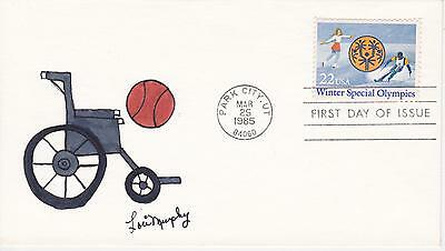 EARLY LORI MURPHY HD/HP FDC FIRST DAY COVER-1985 WINTER SPECIAL OLYMPICS #2