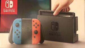BRAND NEW NINTENDO SWITCH BLUE AND RED