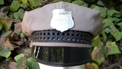 Old Vintage Obsolite Government Public Buildings Security Police Visor Hat USED