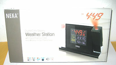 Nexa Weather Station W  Digital Projection Clock    Wireless Thermometer