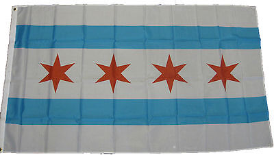 City Of Chicago 3' x 5' Flag Country USA Illinois Pride Banner IL