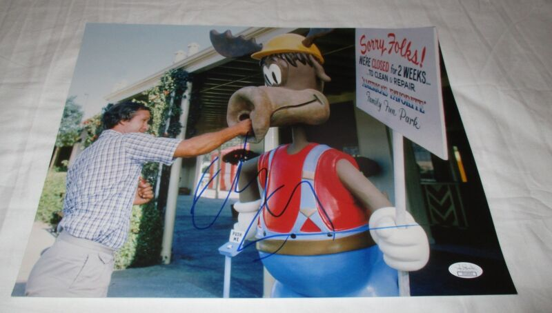 CHEVY CHASE SIGNED NATIONAL LAMPOON'S VACATION 11X14 PHOTO JSA 2