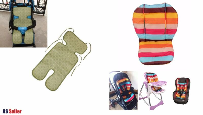 Stroller Car Seat High Chair Waterproof Breathable Liner Cushion Pad Mat Cover