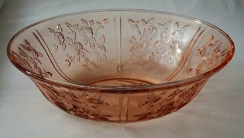 """Vintage Federal Pink Depression Glass Sharon Cabbage Rose 10"""" Vegetable Bowl !"""