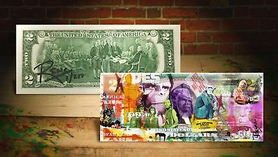 PLANET OF THE APES Genuine U.S. $2 Bill SIGNED by Rency & SERIAL NUMBERED of 217