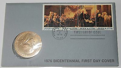 1976 AMERICAN REVOLUTION BICENTENNIAL THOMAS JEFFERSON COIN & STAMPS