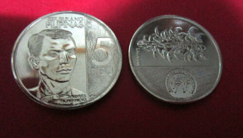 2017 Philippines 5 piso new coin Andres Bonifacio uncirculated new