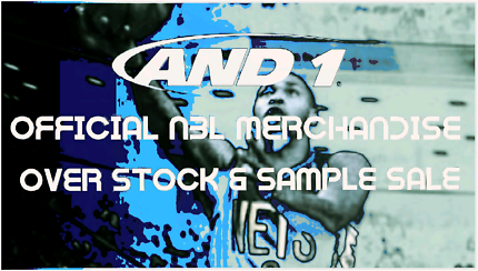 Wanted: AND1 SAMPLE & OVER STOCK SALE (OFFICIAL NBL MERCHANDISE)