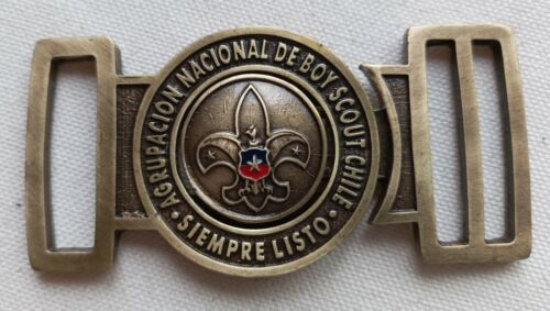 OFFICIAL COLORED NATIONAL BOY SCOUT BELT BUCKLE FROM CHILE 🇨🇱