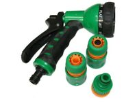 Garden Hose 7-Pattern Spray Gun + Connector Set