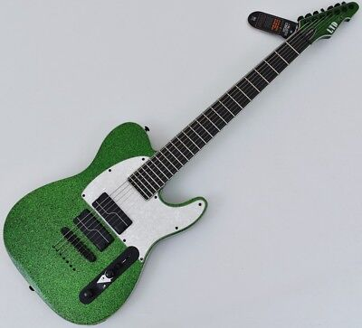 ESP LTD SCT-607 Baritone Stephen Carpenter Electric Guitar Green Sparkle