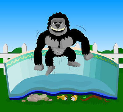 Gorilla Floor Padding Mat for Above Ground Swimming Pools Liner Protection Pad Above Ground Swimming Pool Floor