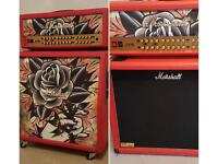 Marshall JVM410H Tattoo Limited Edition Half Stack, plus a matching 1936V