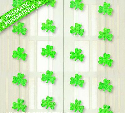 4 st Patricks Day Sparkly Prismatische Kleeblatt Schnur Zum Aufhängen Dekoration ()