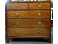 George III Mahogany Chest of Drawers, Great Condition, Can Deliver