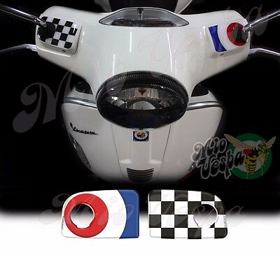 Blue Target Handlebar pump covers overlay 3D Decals stickers Vespa GTS 250 300