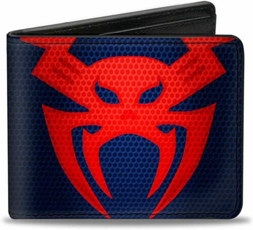 Marvel Comic Spiderman Leather Money Wallet Bifold Superhero Gift Buckle Down