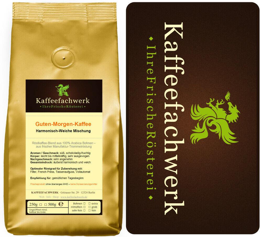 Kaffeefachwerk Guten-Morgen-Kaffee ♥ Säurearmer Kaffee mild und frisch geröstet
