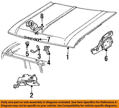 Dodge CHRYSLER OEM 89-93 Ramcharger Hood-Lock Latch Striker 4168965