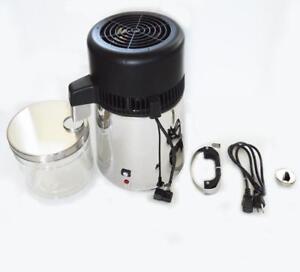 Used 110v Dental/Medical/Lab Stainless Steel Water Distiller Pure Purifier Filter 220429