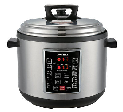 GoWISE USA GW22637 8-in-1 Programmable Electric Pressure Cooker (14QT)
