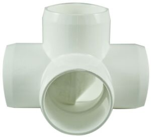 4-Way-40mm-PVC-Pipe-Cage-Fittings-Connectors-for-Furniture-Projects