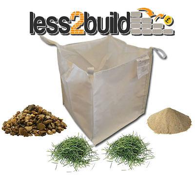 1 Ton Bulk Bag Builders Rubble Sack Tonne Jumbo Grass Hedge Waste