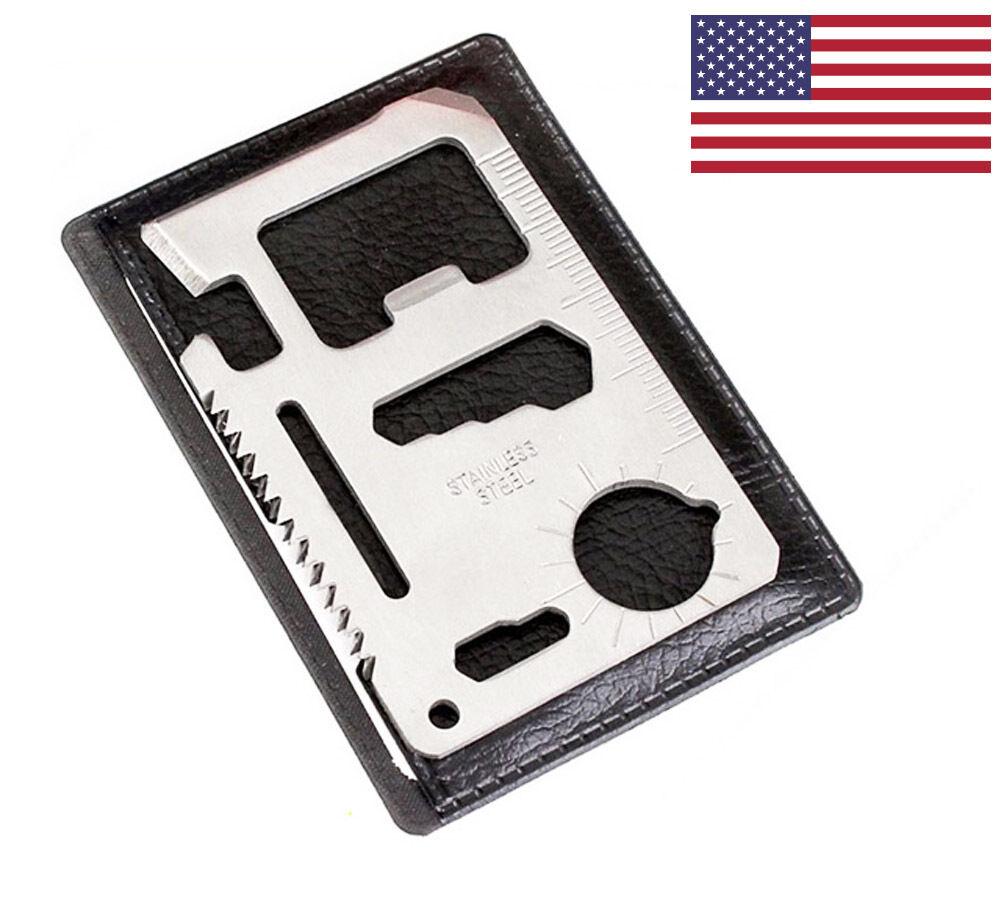 Multi Tool Wallet Thin Survival Pocket Credit Card Knife Men