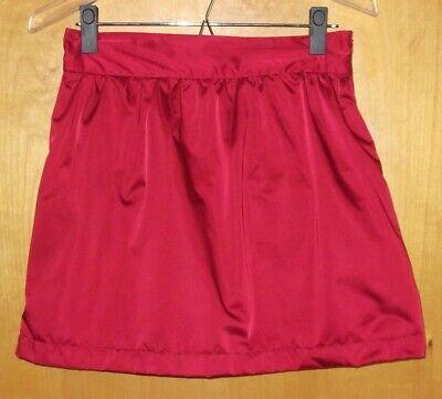 Forever 21 Mini Skirt A-Line Red Satin Puffy Sz M Cosplay Lolita Anime NYE Retro