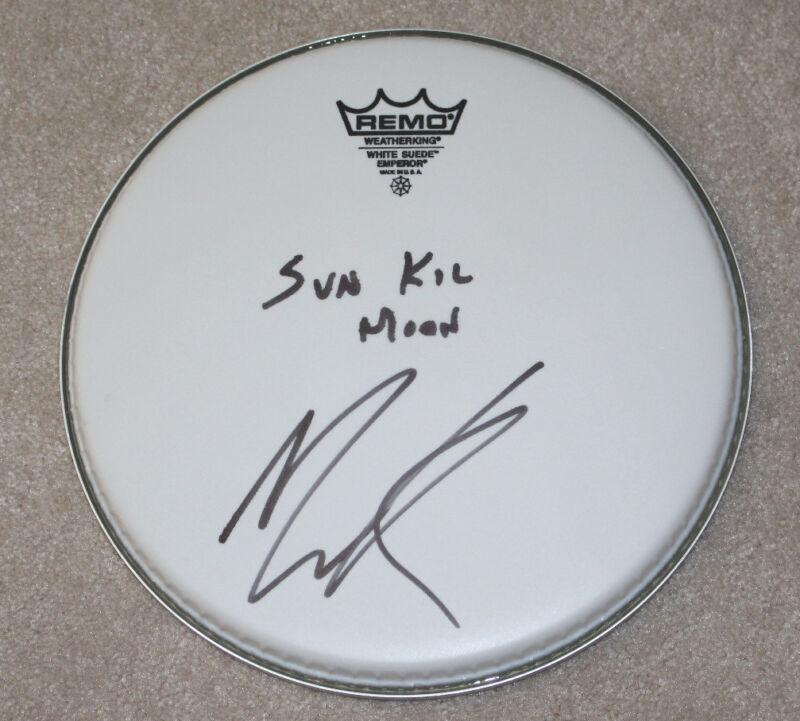 "SUN KIL MOON SINGER MARK KOZELEK SIGNED 10"" DRUMHEAD W/COA RED HOUSE PAINTERS"