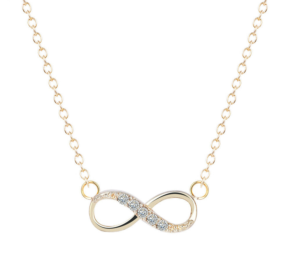 Jewellery - Stainless Steel Infinity Love Charm Womens Beauty Jewelry Durable Necklace Gift
