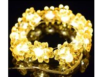AE 6.6 FT Decoration Lights Copper Wire Sunflower Fairy Lights with 20 Warm White LEDs