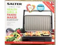 SALTER HEALTH GRILL & PANINI MAKER BRAND NEW BOXED