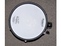 Roland V Drums PD-105X TOM / SNARE 10 inch Blue Dual Trigger Mesh Electronic pad 2 available NICE