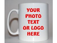 PERSONALISED MUG TEA CUP CUSTOM GIFT FOR CHRISTMAS, PARTY, PHOTO, PRINT ANY LOGO, ARTWORK @LOW PRICE