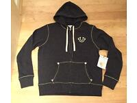 Brand new with tags. Men's authentic large grey True Religion Hoodie. Mint condition
