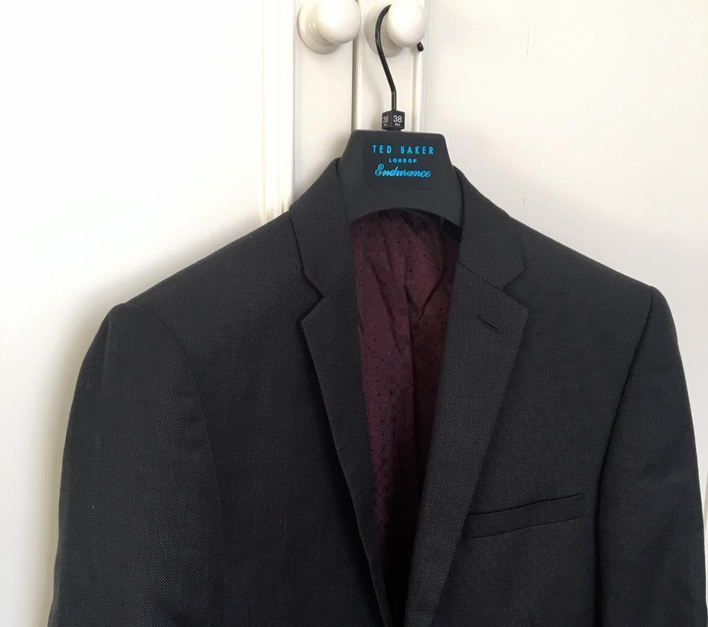 8d075752015d Men s Ted Baker pin dot charcoal two piece suit