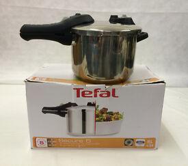 Tefal Secure 5 Stainless Steel 6 Litre Pressure Cooker - Enderby - STA21