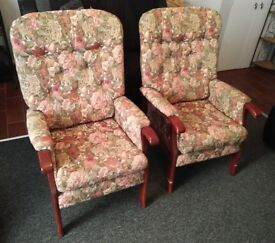 Parker Knoll Style Armchairs