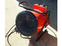 Portable industrial space heater. Heat setting & fan only option for summer use