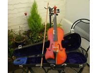 1/2 Violin Outfit - Set up and ready to play.