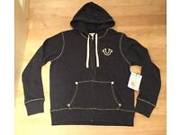Brand new with tags. Men's authentic large grey True Religion Hoodie. Mint condition. RRP £160