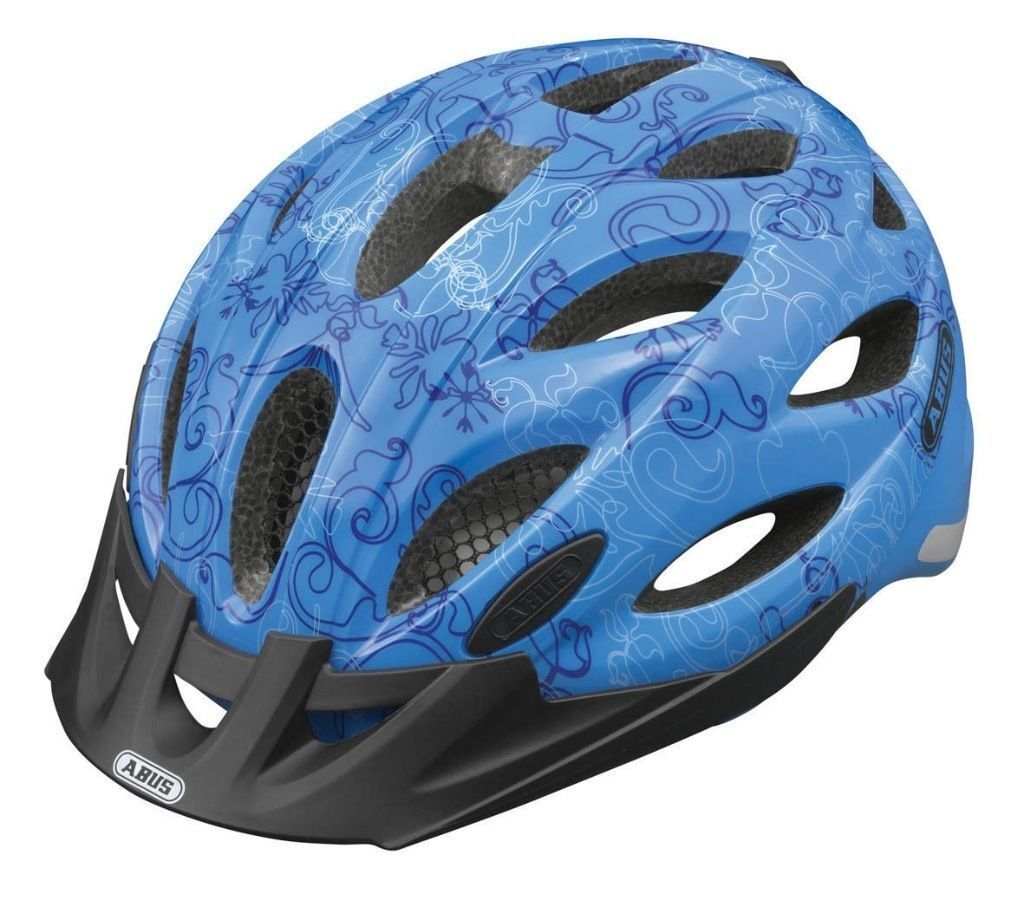 (1771) NEW, ABUS LIGHTWEIGHT HELMET+RED LIGHT; ADULT YOUTH CYCLING BIKE BICYCLE HELMET, L, 56-62 cm