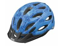 (1771) NEW, ABUS LIGHTWEIGHT HELMET+RED LIGHT; ADULT YOUTH CYCLING BIKE BICYCLE HELMET, SIZE: M or L